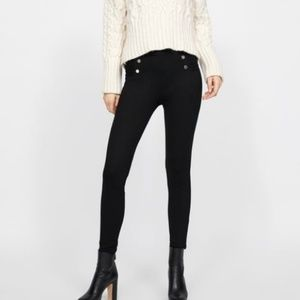 Zara black legging, ponte las pants S
